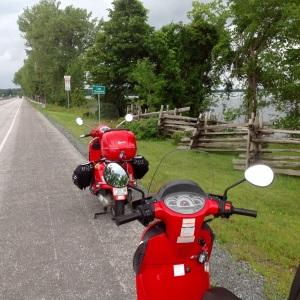 On the bridge to South Hero Island