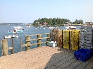 view from the dock of the Five Islands Lobster House.