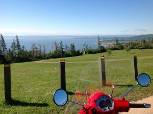 view from the parking area at Cape Blomidon Provincial Park