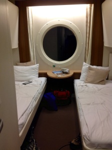 "an ""exterior"" cabin -- has a porthole!"